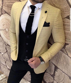 Mister Joe Yellow Slim Fit Blazer