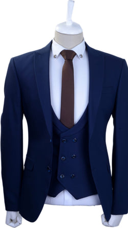 Your perfect  3 pieces Blue slim fit suit