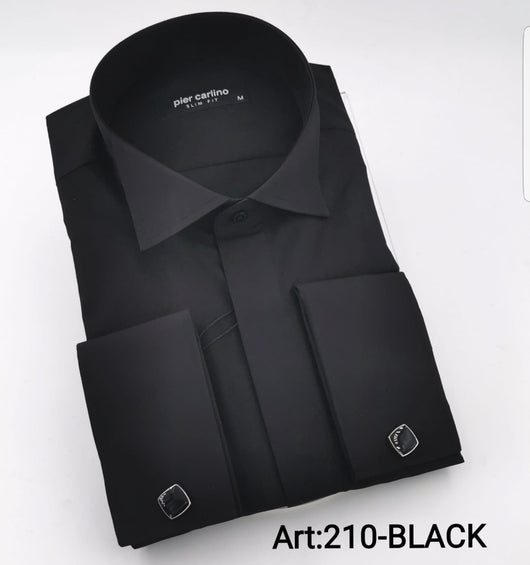 Very classic black slim fit shirt