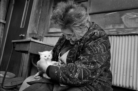 woman with her kitten -MissMeowni.com