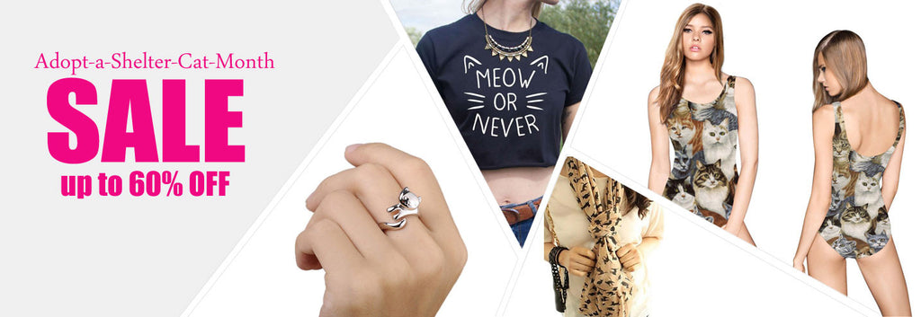 cat themed accessories jewelery rings earrings apparels