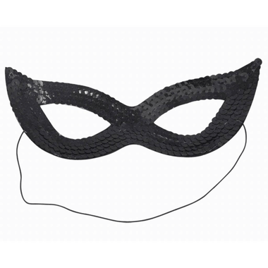Sequin Masquerade Mask - Black