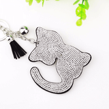 Kitty Cat Rhinestone KeyChain