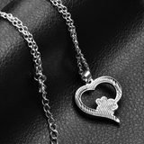 Meow Paw Heart Necklace