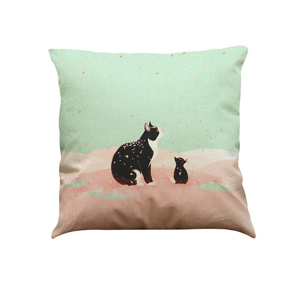 Cat Mom & Me Cushion Cover