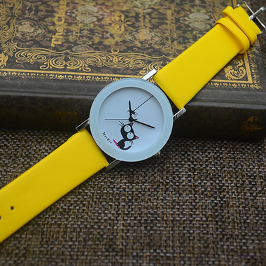 My Kitty in Wrist Watch - Yellow