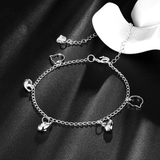 Three Fishes with Two Cats Anklets - Silver