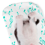 Lost In Rhythm Cat Socks - White