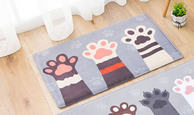Three Paws Mats- Gray