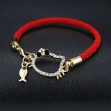 Kitty Cat Red and Black Bracelets-Accessories-MissMeowni
