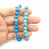 MissMeowni Accessories Blue Beads Charm Natural Stone Bracelet