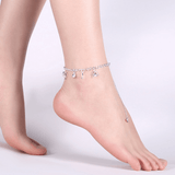 MissMeowni Accessories Cat loves Fish Anklets - Silver
