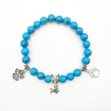 MissMeowni Accessories OneSize / Sea Blue Blue Beads Charm Natural Stone Bracelet