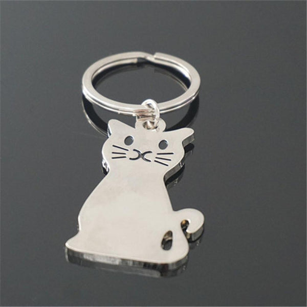 MissMeowni Accessories OneSize / Silver Kitty Cat Curves KeyChain