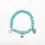 MissMeowni Accessories OneSize / Sky blue Blue Beads Charm Natural Stone Bracelet