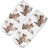MissMeowni Apparels Angel Cat Socks-White