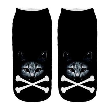 MissMeowni Apparels OneSize / As shown Halloween Black Night Socks