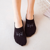 MissMeowni Apparels OneSize / Black Cute Cat Low Cut Ankle Sock