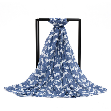 MissMeowni Apparels OneSize / Blue Cats Clowder Scarf-Blue