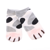 MissMeowni Apparels OneSize / Gray/Black Cat Claws and Stripes Low Cut Ankle Socks