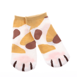MissMeowni Apparels OneSize / Light Orange/Brown Cat Claws and Stripes Low Cut Ankle Socks