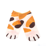 MissMeowni Apparels OneSize / Orange/Brown Cat Claws and Stripes Low Cut Ankle Socks