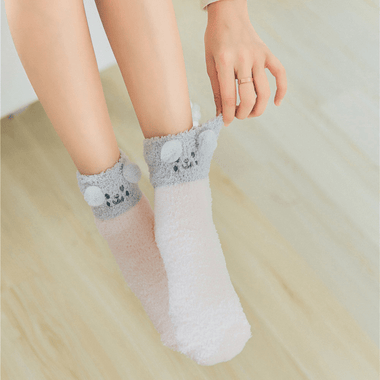 MissMeowni Apparels OneSize / Pink/Grey(top) Awesome Winter Cat Socks