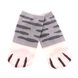 MissMeowni Apparels OneSize / Shades of Gray Cat Claws and Stripes Low Cut Ankle Socks