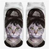 MissMeowni Apparels OneSize / White Bejeweled Cat Socks