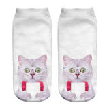 MissMeowni Apparels OneSize / White Cat in Spects Socks
