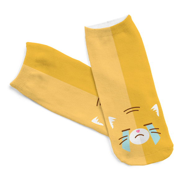 MissMeowni Apparels OneSize / Yellow Cat Mood Swings Socks