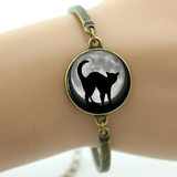 MissMeowni Bracelets Bronze / OneSize Black Cat in Moonlight Bracelet