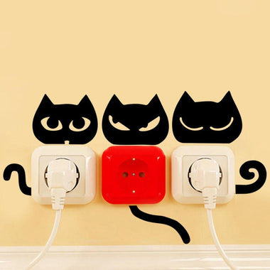 MissMeowni Home Decor Cats Face and tail Sticker - Eyes