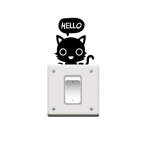 MissMeowni Home Decor OneSize / Black Cats Hello Head Bubble Sticker