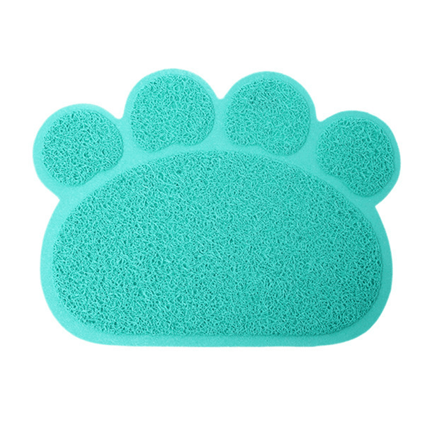 MissMeowni Only for Cats OneSize / Blue Cute Cat Paw Shape Litter Mats