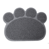MissMeowni Only for Cats OneSize / Gray Cute Cat Paw Shape Litter Mats