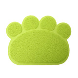 MissMeowni Only for Cats OneSize / Green Cute Cat Paw Shape Litter Mats