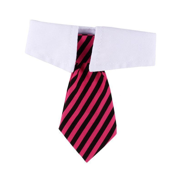 MissMeowni Only for Cats OneSize / Pink Cat Striped Bow Tie
