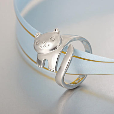 MissMeowni Ring OneSize / Silver Crazy Cat Lady Ring