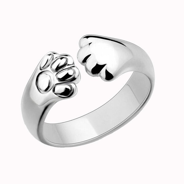 MissMeowni Ring OneSize / Silver Crystal Cat Claw Rings
