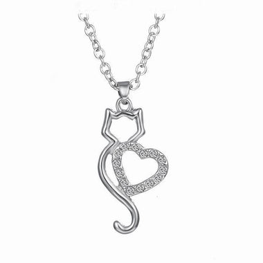 My Cat Heart Necklace-Necklace-MissMeowni