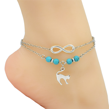 My favorite Cat Anklets - Silver-Accessories-MissMeowni
