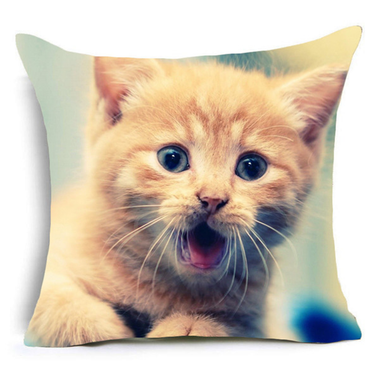 Siberian Kitten Cushion Cover-Home Decor-MissMeowni