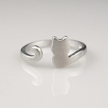 Silver Cat Rings - Matte-Ring-MissMeowni