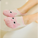 Summer Ankle Cut Socks- Pink/Gray/Green-Apparels-MissMeowni