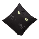 The Black Cat Cushion Cover-Home Decor-MissMeowni