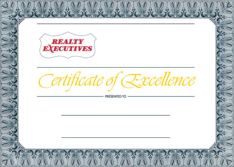 RE Certificate of Excellence