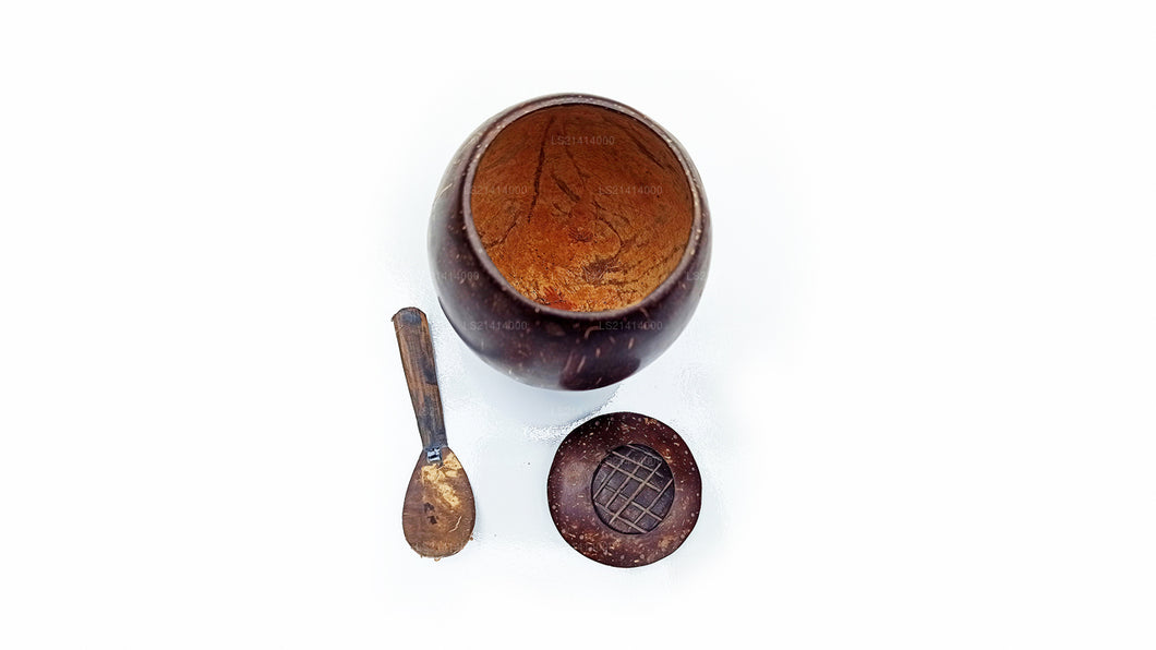 Coconut Shell Spice Bottle and Spoon