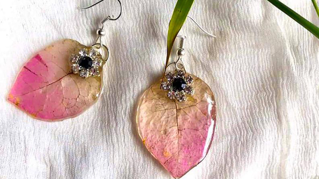 Handmade Real Flower Earrings