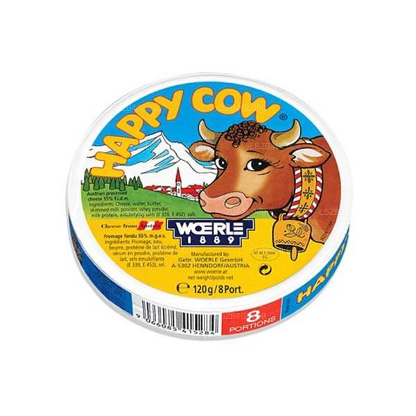 Happy Cow Cheese Round Box Portion